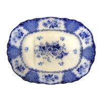 """22 3/8"""" Viola Flow Blue Platter"""
