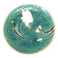 "8 1/4"" Holdcroft Majolica Pond Lily Plate"