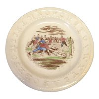 """7 3/8"""" English Rugby ABC Plate"""