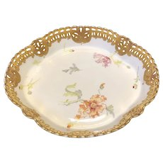 """12 1/2"""" Limoges Pairpoint Bowl"""