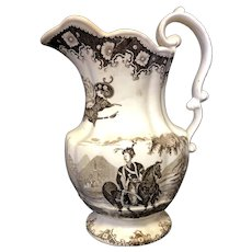 "10 1/4"" Staffordshire Pitcher"