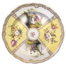 """8 3/8"""" Meissen Watteau Plate"""