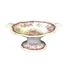 "13 3/8"" Staffordshire 2 Color Compote"
