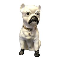 "13 3/8"" Staffordshire Pug Figure"