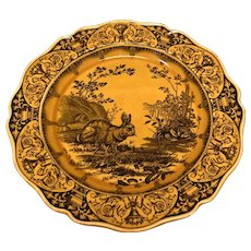 "12 7/8"" Wedgwood Rabbit Charger"