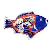 """14 1/8"""" Japanese Imari Fish Tray"""