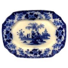 """16 1/4"""" Scinde Flow Blue Platter"""