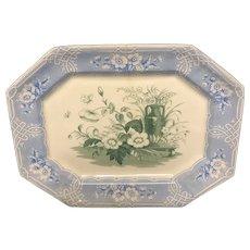 "15 1/4"" Indian 2 Color Staffordshire Platter"