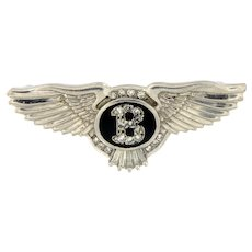 Estate Platinum Bentley Diamond Brooch.