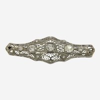 Art Nouveau Platinum Old European Diamonds Brooch