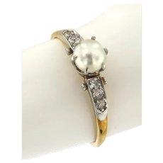 Antique Diamond & Pearl Ring