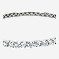 5.50 Carats Diamond Bangle All Around 14kt White Gold
