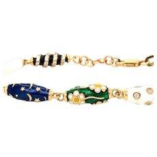 Unique Enamel & Diamond Bracelet