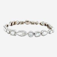 15 Carats Fancy Shapes Diamond Bracelet 18kt Gold