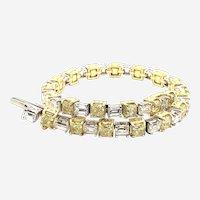 14.10 Fancy shape Diamond Bracelet 18kt Gold