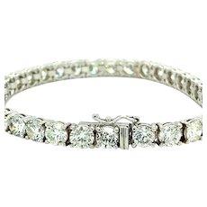 16.50 ct Diamonds Tennis Bracelet in 18 Karat White Gold