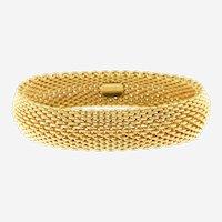Tiffany & Co Somerset Mesh Bracelet, 18k Yellow Gold, Circa 1995