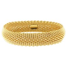 Tiffany & Co Somerset Mesh Bracelet, 18k Yellow Gold, Circa 1995