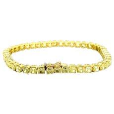 12.50 ct Natural Yellow Diamond Tennis Bracelet in 18kt Yellow Gold