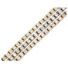 4.75 ct Diamonds Tri-Color Bracelet in 14 kt Gold.