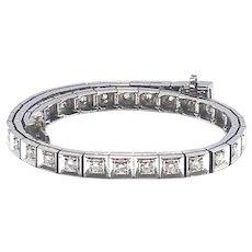 14kt Gold 2.50 ct Diamonds Retro Straight-Line Bracelet