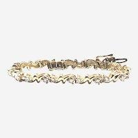 14kt Gold 2.50 ct Diamonds Vintage Bracelet