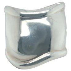 Tiffany & Co Medium Bone Cuff in Sterling Silver 61mm wide.