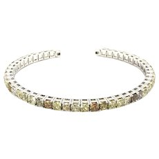 12.50 Carats Fancy Diamond Cuff Bangle 14kt Gold