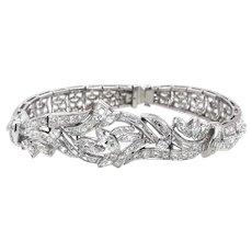 Vintage 11.50 Carat Diamond Bracelet Platinum