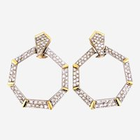 4.80 Carat Diamonds Clip On earrings circa 1970's