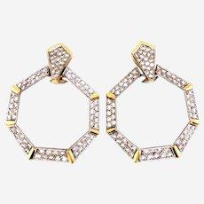 4.80 Carat Diamonds Clip On earrings circa 1970's