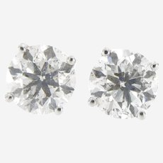 4.03 ct Diamond Stud Earrings