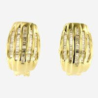 2 ct Diamonds 14 kt Yellow Gold Earring