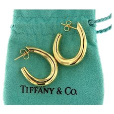 Tiffany & Co 18kt Gold Hoop Earrings
