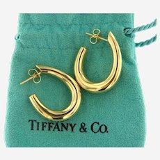 Tiffany & Co 18kt Gold Hoop Earrings