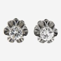 Vintage Diamond Stud Earring, 0.65 ctw