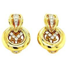 Van Cleef & Arpels Vintage 18kt Gold & Diamond Earring