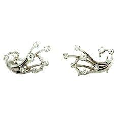 0.45 ct Diamond Earrings in 14kt White Gold
