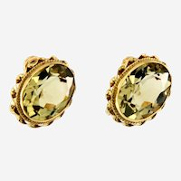 Victorian Gemstones Earring in 14kt Yellow Gold