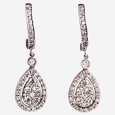 14kt Gold Dangling Diamonds Earring