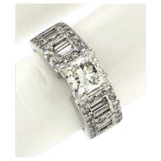2 ctw Princess Cut Diamond Engagement Ring