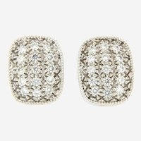 14 kt Gold 2 ct Fine Diamonds Earring, Circa 1970