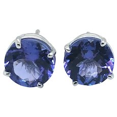 2.56 ct Tanzanite Stud Earring in 14kt White Gold