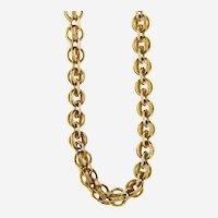 Antique 14kt Gold Handmade Chain, Circa Victorian Period