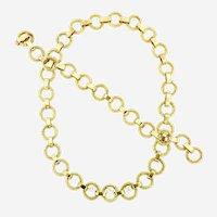 Vintage Long Necklace Convertible, 14kt Gold & Diamonds, Circa 1960