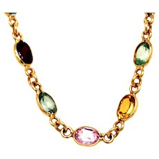 14kt Semiprecious Necklace