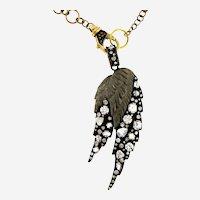 Designer 4 ct Diamonds Angel Wing Pendant On Chain,