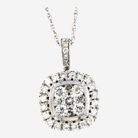Attractive 14kt White Gold Pendant with 0.65 ctw Diamonds