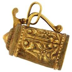 Antique Victorian 14kt Gold Teapot Pendant Charm