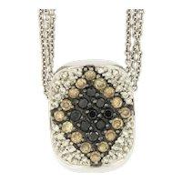 Stylish Diamond 14kt Gold Pendant on Triple Chain.